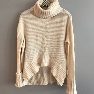 Anthropologie Moth Cowl Neck Wool Blend Sweater